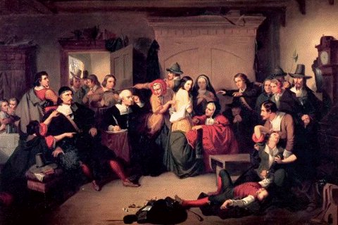 Painting of the Salem Witch Trials