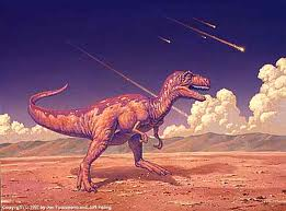 A T-Rex dinosaur faces extinction