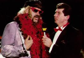 Jesse Ventura before he was governor being interviewed by Vince McMahon for Worldwide Wrestling