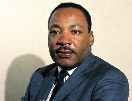 Nice portrait of Dr. Martin Luther King in color