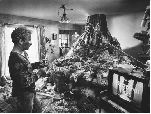 mashed potatoe mountain from Close Encounters of the Third Kind