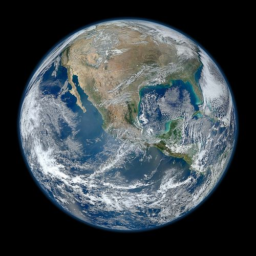 crystal clear shot of the earth from space